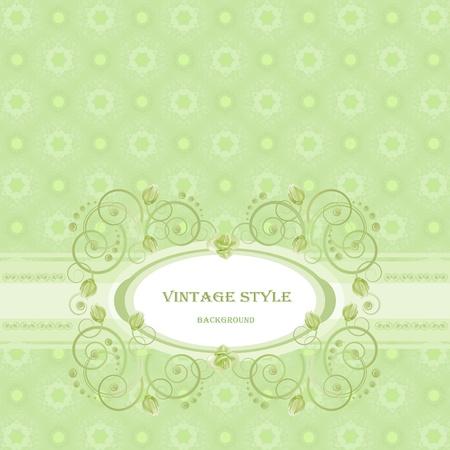 Vintage frame in green tones.