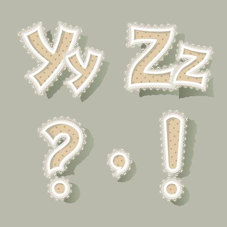 Set of letters in vintage stile. Vector