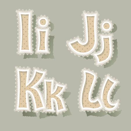 Set of letters in vintage stile.