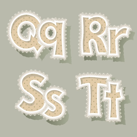 Set of letters in vintage stile. Vector