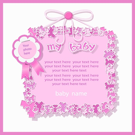 Baby shower in pink tones Vector