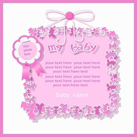 Baby shower in pink tones Vector