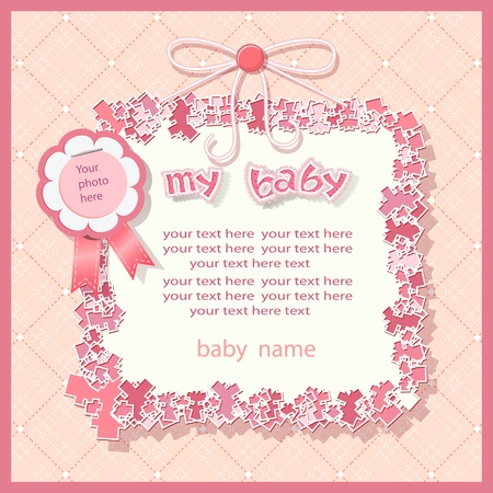 Baby shower in pink tones Stock Vector - 12939465