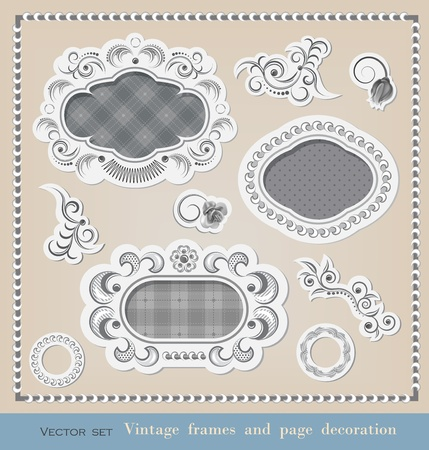 Set of calligraphy elements  and frames Stock Vector - 13143442
