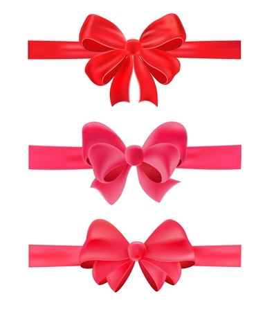 Set of gift bows, isolated of white Stock Vector - 13468079