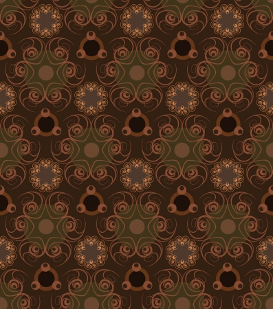 beige backgrounds: Calligraphic seamless pattern in vintage style