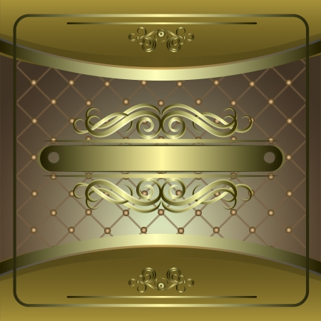 Vintage vector background with golden patterns. Stock Vector - 13913193