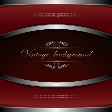 Vintage  background with metallic elements Vector