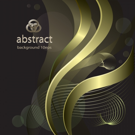 Abstract background with golden lines pattern Vector