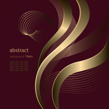 Abstract background with golden  lines pattern Stock Vector - 13913186