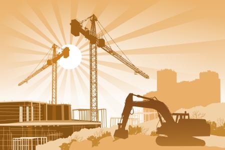bouwkraan: Bouwplaats