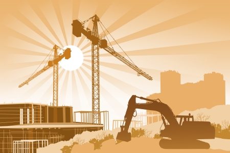 Construction site Stock Vector - 14178667