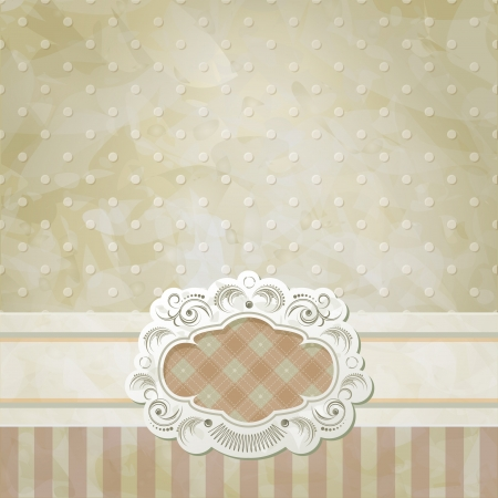 Vintage vector background and frame Stock Vector - 14178597