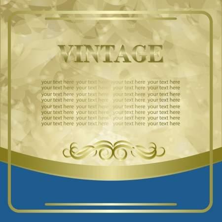 Vintage background with golden border Vector