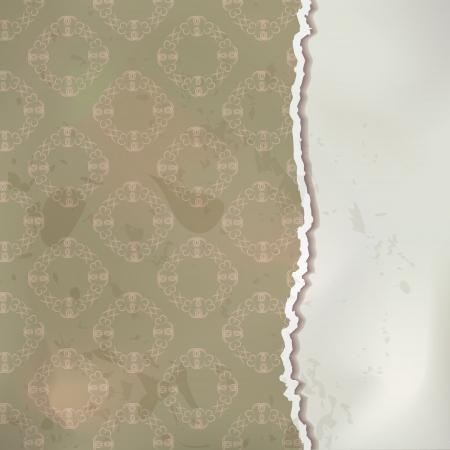 Old paper vector background in vintage style Vector
