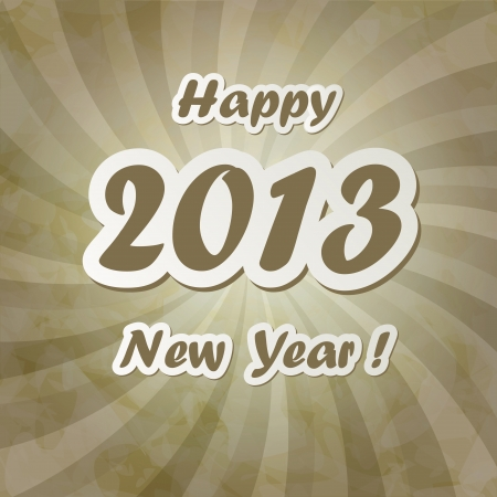 New Year Card in vintage style Stock Vector - 14601399