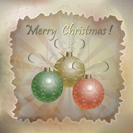 Beautiful vector christmas card in vintage style Vector