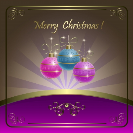 Beautiful Merry Christmas card  Vector
