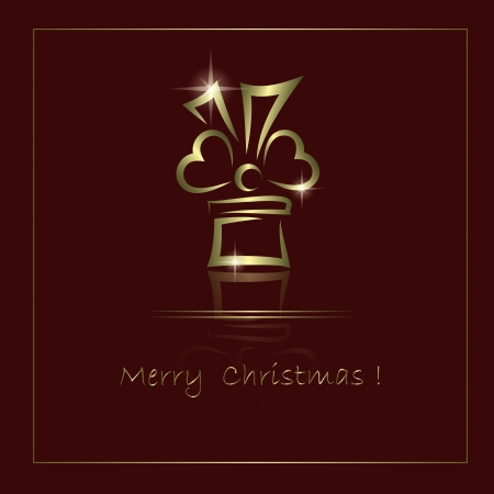 Merry Christmas vector background with abstract golden gift Stock Vector - 14620464