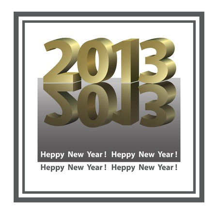 New Year Card in graphic style Stock Vector - 14619264