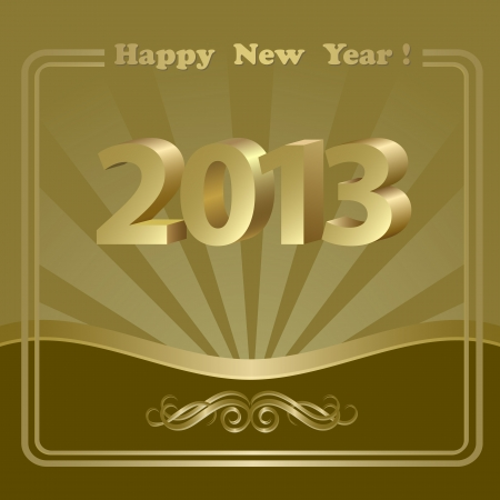 New Year background with golden patterns Vector