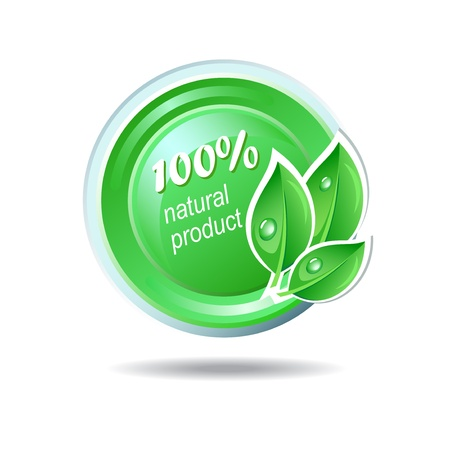 Ecology icon in green color Vector