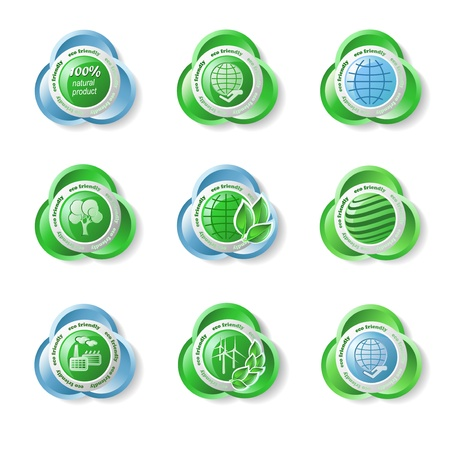 Set of ecology icons on the white background Stock Vector - 15206384