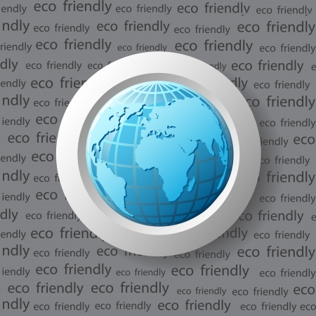 Ecology icon with blue earth Stock Vector - 15012084