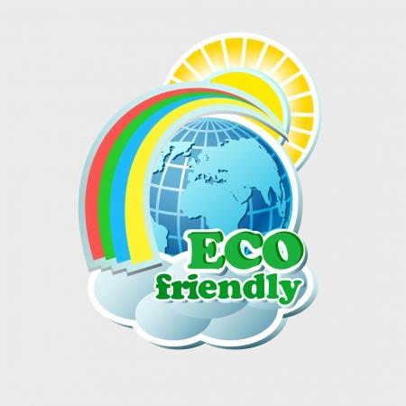green environment: Environmental concept   Illustration