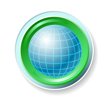 Ecology vector  icon with globe Stock Vector - 15283322