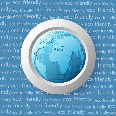 Ecology vector  icon with globe Stock Vector - 15283328