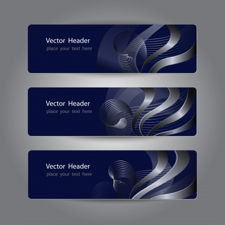 title page: Set of abstract header design, banners