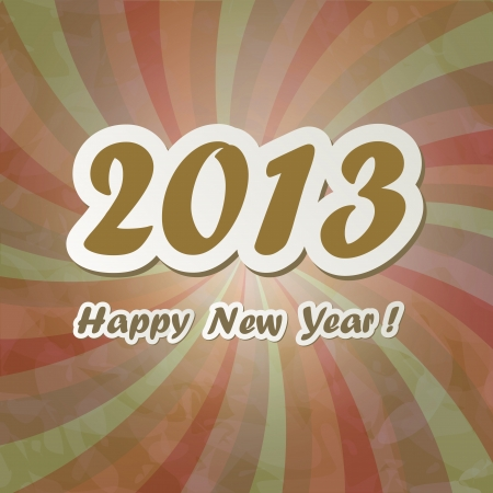 New Year banner in vintage style Stock Vector - 16187756