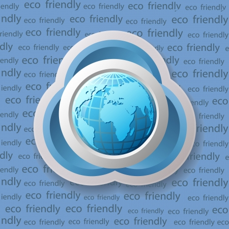 Ecology banner with globe Stock Vector - 16564824
