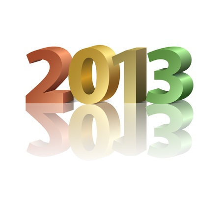 2013 New Year banner, colorful  letters on the white background Vector