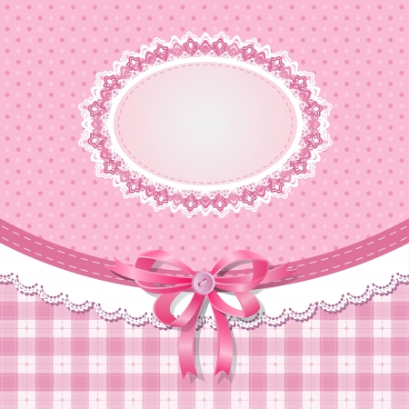 baby girl: Baby shower for girl, vector