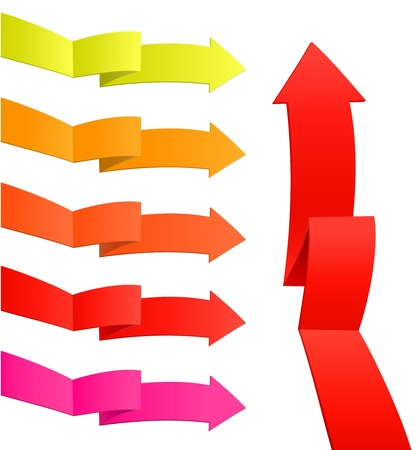 Set of arrow stickers, vector illustration Stock Vector - 18093443