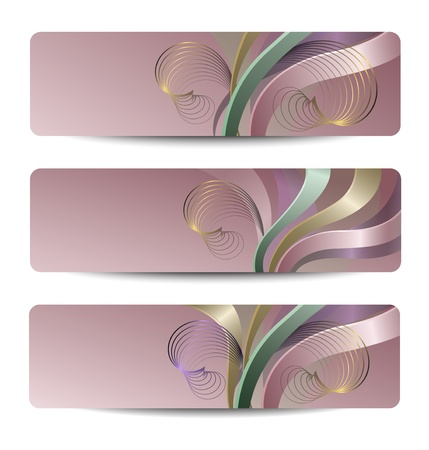 Set of abstract headers, banners Stock Vector - 18464684