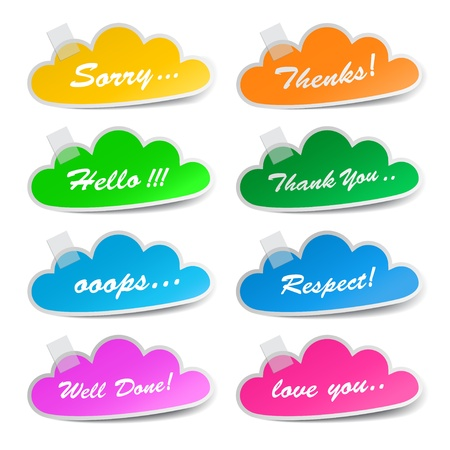 Message cloud labels, vector Stock Vector - 19032032