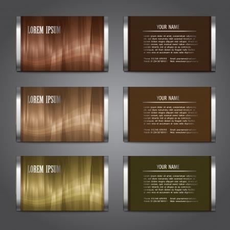 busines: Busines card templates set, vector