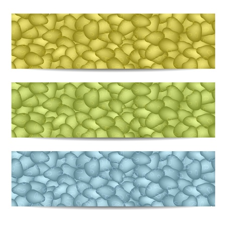 tawny: Set of abstract headers, vector Illustration