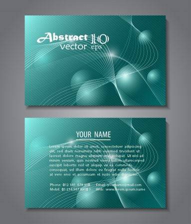 Abstract design, card template Vector