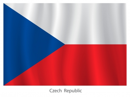 flagging: Czech Republic flag Illustration