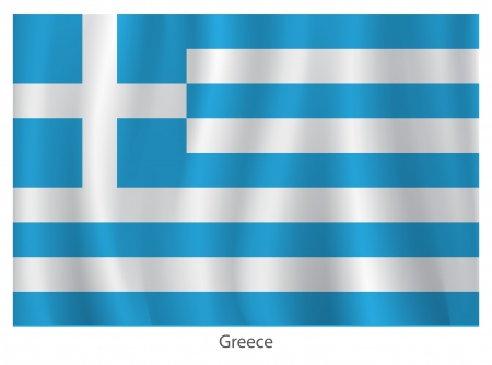 greece flag: Greece flag Illustration