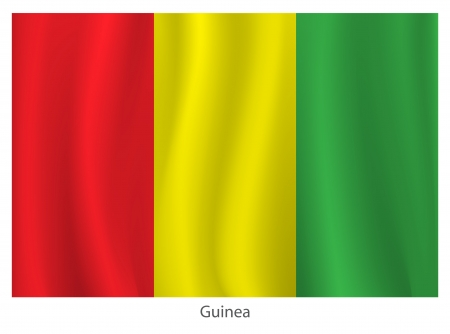 tossing: Guinea flag Illustration