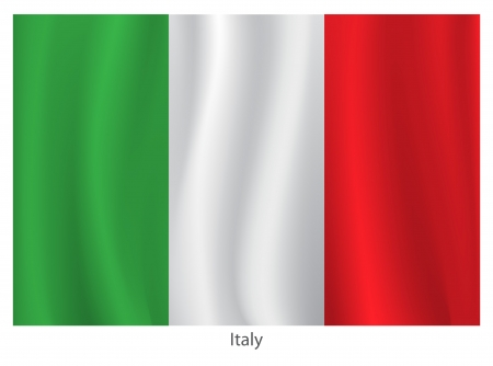 the italian flag: Bandiera Italia