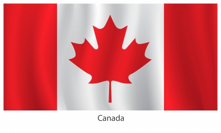 canadian icon: Canada flag Illustration