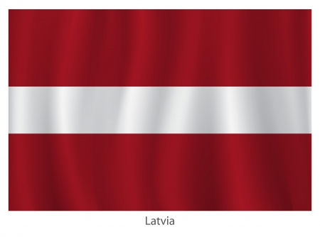 flagging: Latvia flag Illustration