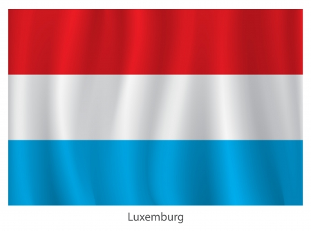 force of the wind: Luxemburg flag Illustration