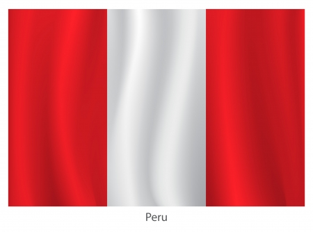 flagging: Peru flag